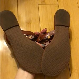 Tory Burch Shoes - Tory Burch Logo Sandals - Size 8.5